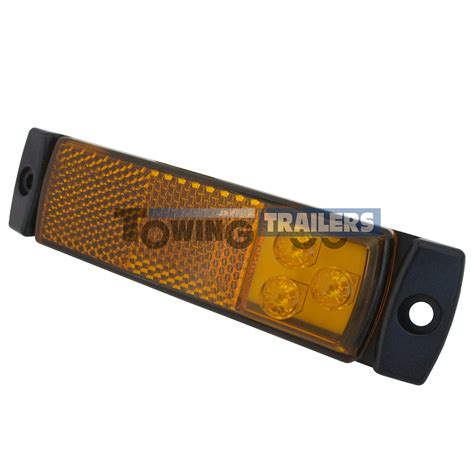 amber led marker lights led autols 129 series amber trailer marker light with