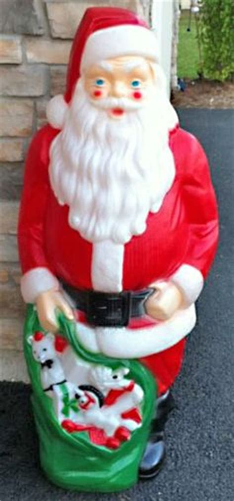 african american santa lighted plastic blow mold