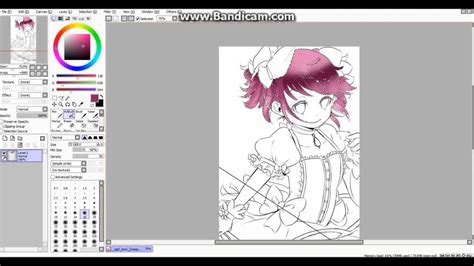 how to color lineart how to color in anime line hair easily on sai