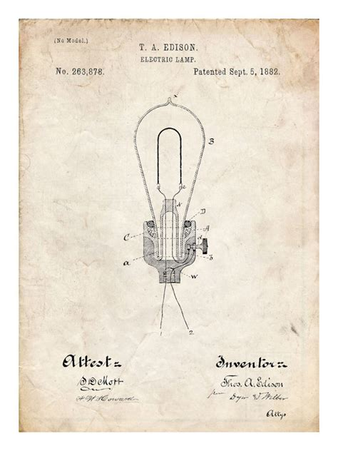 Who Invented The Fluorescent L by Edison Light Bulb Diagram Edison Family