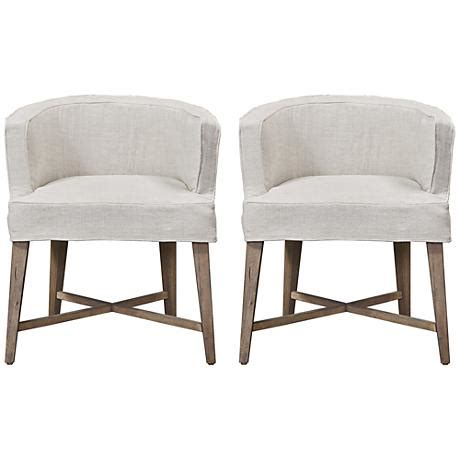 Armchair Cover Set by Authenticity Belgian Slip Cover Barrel Armchair Set Of 2