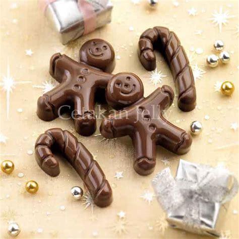 Cetakan Mini Natal cetakan silikon coklat puding mini cetakan