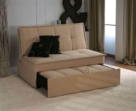 santander ft beige upholstered sofa bed