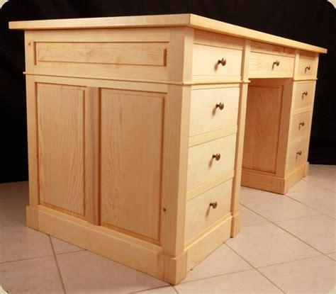 bureaux en bois caisson de bureau en bois massif