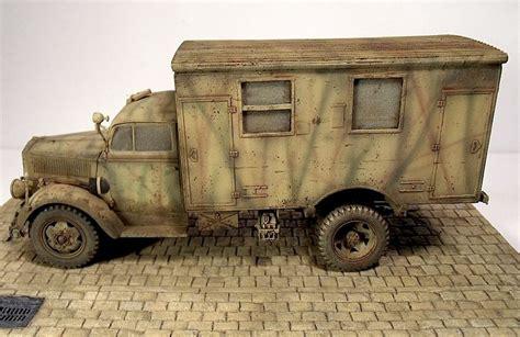 vans mit blitz opel blitz mit sonderaufbau ardennes 1944 plastic model armor wheeled