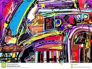 Original Digital Painting Of Abstraction Stock Vector ...