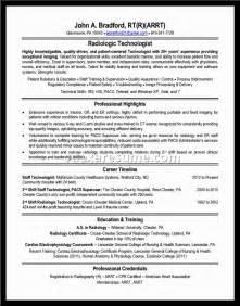 entry level mri technologist resume radiologic technologist resume sles document