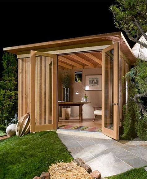 backyard office shed 10 quot shedquarters quot bring the home office to your backyard