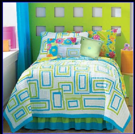 blue pink and green bedroom image detail for lime green and turquoise blue bedding