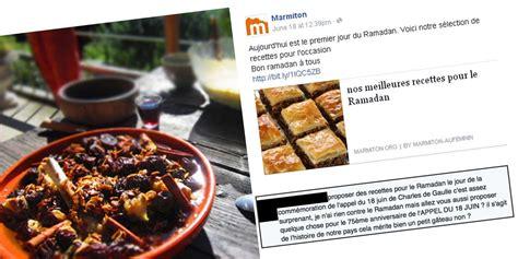 marmiton forum cuisine recettes du ramadan marmiton fait à un torrent d