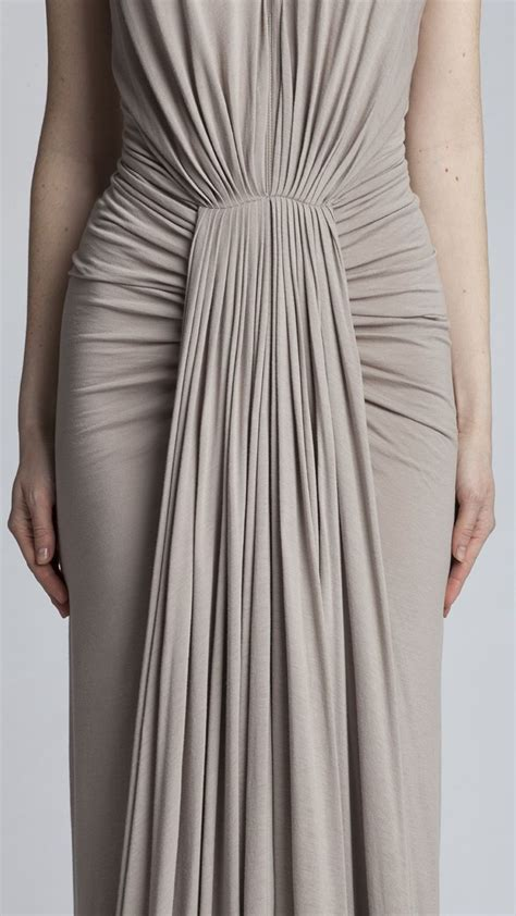 draped in draped dress with micro pleats ruched sides sewing