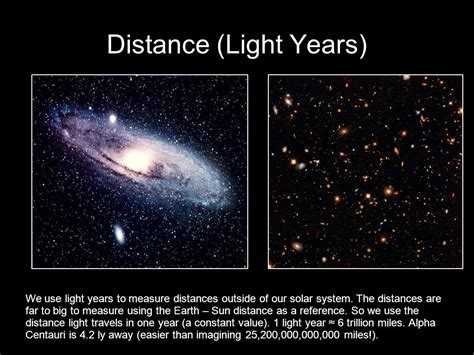 A Few Definitions Light Year (ly) Distance Light Travels
