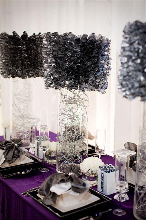 purple and black table settings purple diy wedding entertaining table centerpieces pinterest
