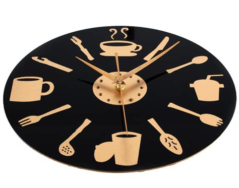 d馗oration murale cuisine moderne déco cuisine horloge
