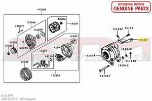 1801a020 Alternator Bracket  9