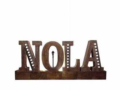 Nola Letters Ft Louisiana Props
