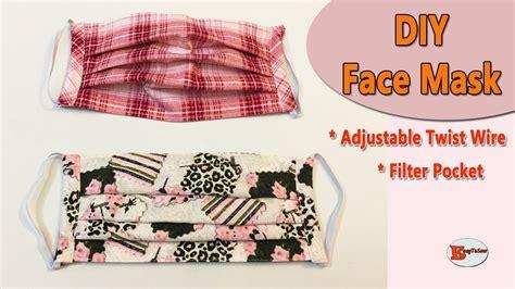 face mask  filter pocket  adjustable