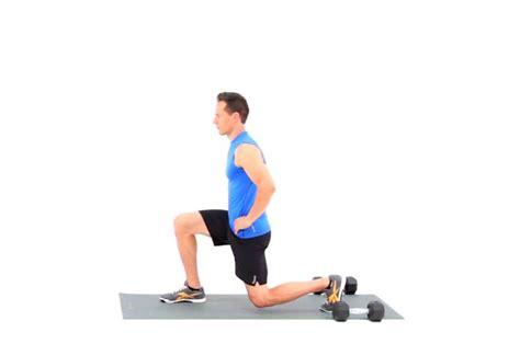 leg hip exercises workout stretch kneeling flexor half proper sitting lunge form main core livestrong demand forward credit sculpting minute