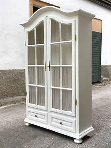 Küchenschrank Shabby Chic : vitrine wei sprossen shabby chic k chenschrank ~ Orissabook.com Haus und Dekorationen