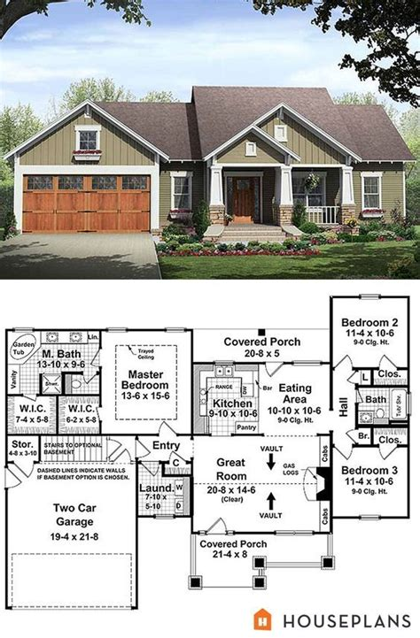 house plans with vaulted ceilings craftsman style house plan 21 246 one story 1509sf 3 bdrm 2 bath mstr bdrm 9 ft trayed