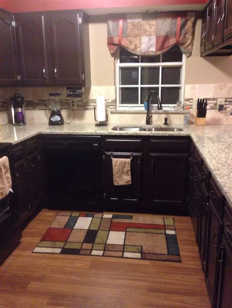 final product sherwin williams black bean painted