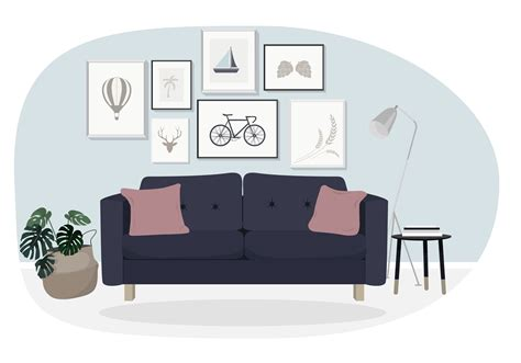sofa vector sofa free vector art 6811 free downloads