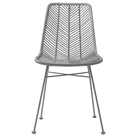 chaise en rotin gris bloomingville chaise lena rotin gris bloomingville