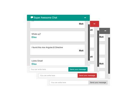 angular bootstrap template github irontec angular bootstrap simple chat simple angularjs chat directive with bootstrap