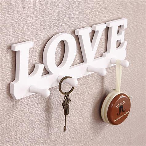 bird love design diy wood decorative wall shelf with hook