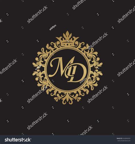 md initial luxury ornament monogram logo stock vector illustration 343040435