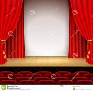 Rideau Rouge Et Blanc : sc ne th trale avec le blanc un support et un rideau ~ Dailycaller-alerts.com Idées de Décoration