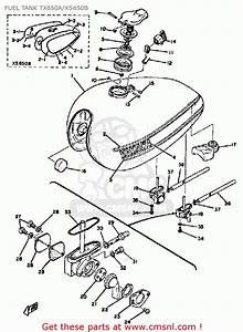 Yamaha Xs650 1975 Usa Fuel Tank Tx650a  Xs650b