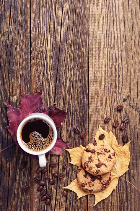 Find the perfect coffee and cookies stock photo. Cookies, Coffee And Autumn Leaves Stock Image - Image of drink, beverage: 44472383