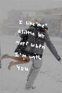 I like me love quotes cute couples winter snow | Love me ...