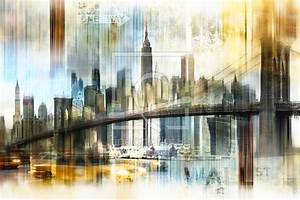 New York Leinwand : new york skyline abstrakt fraktal als leinwand von nett ~ Markanthonyermac.com Haus und Dekorationen