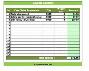 calorie counter spreadsheet calorie counter template With nutrition spreadsheet template