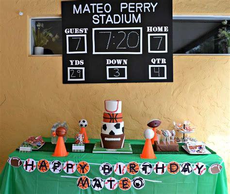 sports birthday party ideas jack sports themed