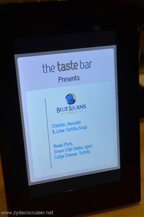 The new taste bar on carnival   Cruise Critic Message Board Forums