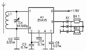 simple am receiver circuit diagram on ic zn415 With basic am receiver