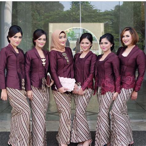 model kebaya batik parang kecil ungu baju lipat