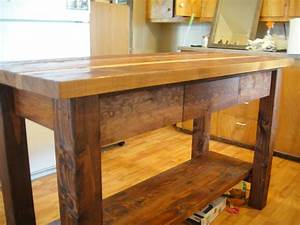 Ana White Kitchen Island from Reclaimed Wood - DIY Projects