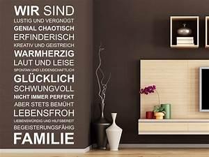 Wandtattoo Sprüche Familie : wandtattoo wir sind familie spruchband wandtattoo de ~ Frokenaadalensverden.com Haus und Dekorationen