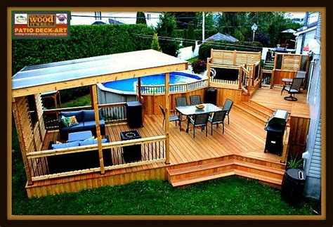 Backyard Deck Plans by Patio Toit Montreal Design Outdoor Living Spaces In 2019