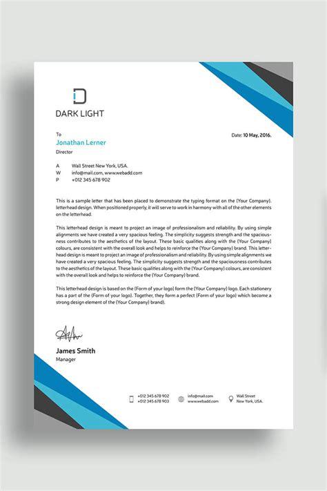 elegant letterhead corporate identity template