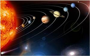 9 Planets In Space Wallpaper