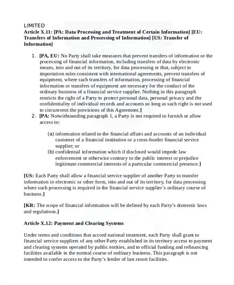 sample financial confidentiality agreement