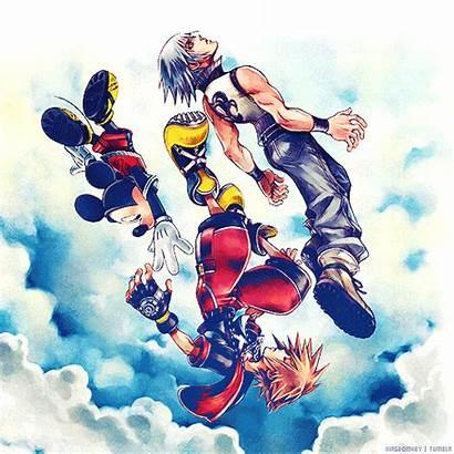 Kingdom Hearts Mickey Sora Riku Mouse Into