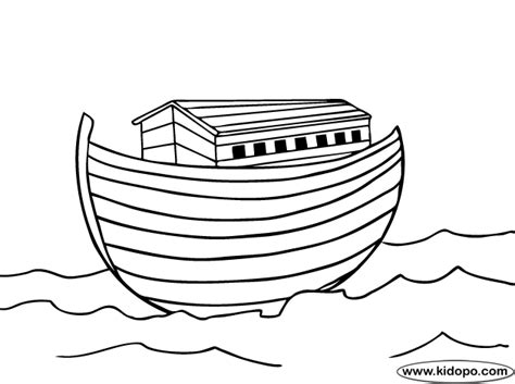 noah ark coloring page kids bible study character