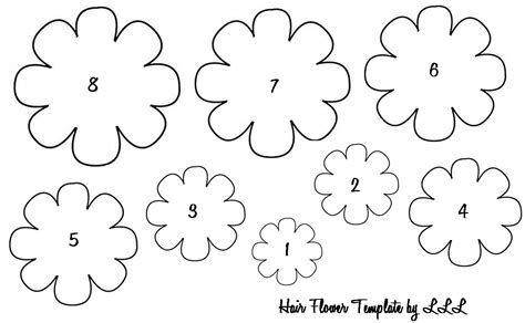 free flower templates the lovely of lindsay baby hair flowers