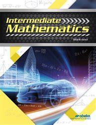 abeka product information intermediate mathematicsnew